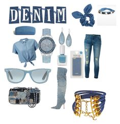 """""""Denim look"""" by rainn1233 on Polyvore featuring Miss Selfridge, MICHAEL Michael Kors, Dolce&Gabbana, Chanel, Dorothy Perkins, Madewell, Kenneth Cole, GUESS, Christian Dior and Cara"""
