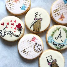 Lost in wonderland #cookieart #paintedcookies #aliceinwonderland #teaparty #lemonrose #shortbread