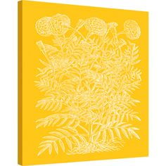 Iconic Pineapple Botanical Silhouette IV Canvas Wall Art (29.070 RUB) ❤ liked on Polyvore featuring home, home decor, wall art, contemporary canvas wall art, spring home decor, canvas home decor, contemporary wall art and yellow canvas wall art