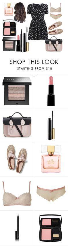 """""""Untitled #771"""" by miss-meghan-elizabeth ❤ liked on Polyvore featuring Bobbi Brown Cosmetics, Giorgio Armani, The Cambridge Satchel Company, Keds, Kate Spade, Elle Macpherson Intimates, NARS Cosmetics and Lancôme"""