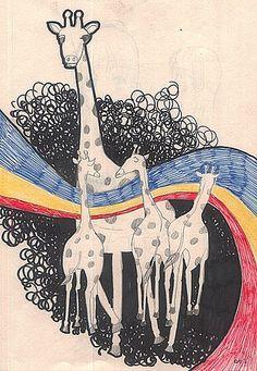 長頸鹿 #illustration #daylilyart #插畫 #玳力力