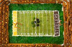 edible football stadium - savory foods only!