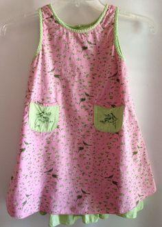 Cornelloki Dress 3/4 Girls Petticoat Pink Birds Gingham Cornell India Cotton #AprilCornell #Dressy