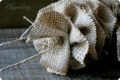 Burlap garland. Yes!! Finally instructions for doing one! Except I'm using burlap ribbon from Hobby Lobby