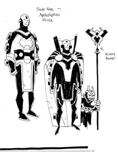 Prior to unleashing his signature creation, Hellboy, artist Mike Mignola spent several years at DC Comics on titles like World of Krypton, Batman: Gotham by Character Concept, Character Art, Concept Art, Character Design, Dark Horse Comics, Storyboard, Marvel Comics, Mike Mignola Art, Fourth World