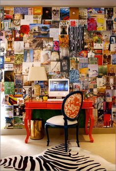 inspiration wall, patchwork photo gallery / wallpaper ?