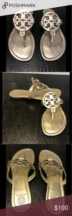 Tory Burch Gold Sandals S. 8.5 A brand new pair of Tory Burch gold sandals.  They are outstanding.  Great price. Tory Burch Shoes Sandals