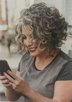 Short-Curly-Hair-Older-Women Popular Short Curly Hairstyles 2018 – 2019 . - Short-Curly-Hair-Older-Women Popular Short Curly Hairstyles 2018 – 2019 Short-Curly-Hair-O - Curly Hair Styles, Grey Curly Hair, Curly Hair Cuts, Curly Bob Hairstyles, Trendy Hairstyles, Short Hair Cuts, Natural Hair Styles, Hairstyles 2018, Curly Hair Bob Haircut
