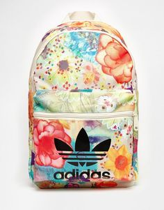Buy adidas Originals x Farm Floral Backpack at ASOS. Get the latest trends with ASOS now. Floral Backpack, Backpack Bags, Fashion Backpack, Rucksack Bag, Mochila Adidas, Adidas Originals, The Originals, Quoi Porter, Cute Backpacks