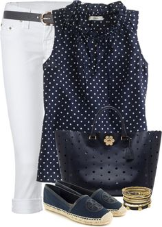"""""""Navy"""" by marincounty on Polyvore Chic Outfits, Summer Outfits, Fashion Outfits, Womens Fashion, Fashion Trends, Business Fashion, Navy And White, Ideias Fashion, My Style"""