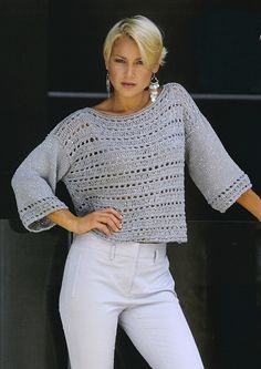 Crochet top summer fabrics 19 Ideas for 2019 Crochet Tunic Pattern, Gilet Crochet, Crochet Blouse, Sweater Knitting Patterns, Top Pattern, Crochet Lace, Free Pattern, Crochet Dishcloths, Crochet Sweaters