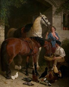 The Halt by John Frederick Herring I (1854) New Walk Museum & Art Gallery, Leicester, England