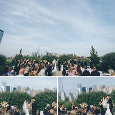 Wedding ceremony at the LIberty House in Jersey City, NJ. Captured by awesome NJ wedding photographer Ben Lau.