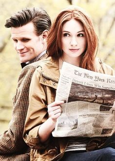 """Doctor Who - obviously set in the far, far future. Look at the headline: """"Detroit Lions win the Super Bowl."""""""