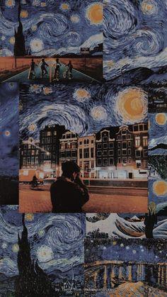 aesthetic wallpaper black Taehyung Aesthetic W - Van Gogh Wallpaper, Mood Wallpaper, Aesthetic Pastel Wallpaper, Iphone Background Wallpaper, Retro Wallpaper, Tumblr Wallpaper, Aesthetic Wallpapers, Wallpaper Quotes, Bts Aesthetic Wallpaper For Phone