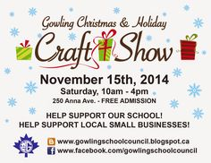 Things To Do with the Kids in Ottawa and at Home: Gowling Christmas and Holiday Craft Show