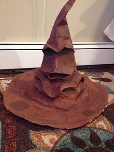 This sorting hat would be the perfect prop for your Halloween party this year!