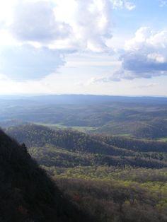 View from Buffalo Mountain in Floyd County, Virginia.  Joseph Cox (Della's dad) 1862-1907 was born here.  Lou Emma Rakes, my great-grandmother, (Della's mom) was born here, too.
