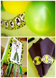 ben 10 alien themed birthday party - kara's party ideas - the place for all…