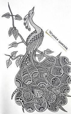 by Tatyanka-Gunchak on DeviantArt Doodle Art Drawing, Zentangle Drawings, Mandala Drawing, Mandala Sketch, Black Pen Drawing, Zentangle Patterns, Mandala Art Lesson, Mandala Artwork, Dibujos Zentangle Art