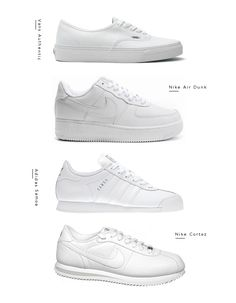Why so many fashion related posts this week? I think it's the change of seasons making me want some new things for my wardrobe. And new white sneakers, that I need! Here are a few I'm thinking of vans dunks adidas nike