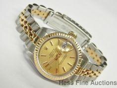 Superior Sapphire Quickset 18k Gold SS Ladies Datejust 69173 #Rolex #Sport