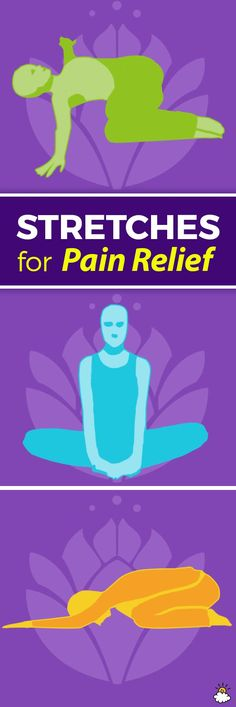At-home yoga stretches are an easy way to take control over common pain symptoms.
