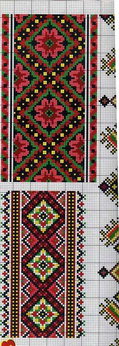 folk etno cross stitch fair isle chart