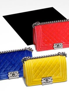 Chanel Boy Bag , mazing colors ....