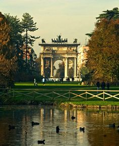 The arch at Parco Sempione