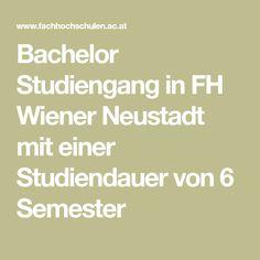 Bachelor Studiengang in FH Wiener Neustadt mit einer Studiendauer von 6 Semester