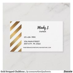 Get customizable Gold business cards or make your own from scratch! ✅ Premium cards printed on a variety of high quality paper types. Gold Business Card, Business Cards, Chalkboard, Paper, Prints, Lipsense Business Cards, Name Cards, Chalkboards, Visit Cards