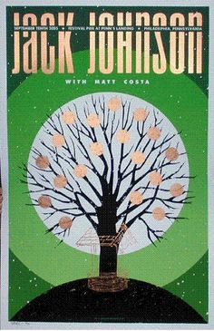 Love This : Todd Slater Jack Johnson Poster Rock Posters, Band Posters, Concert Posters, Music Posters, I Love It Loud, Surf Music, Jack Johnson, Jack White, Sound Of Music