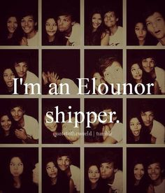 I believe in Elounor. Now I don't ship it though, I luxury cruise it.