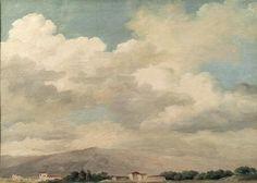 Study of the Sky at Quirinal  Pierre-Henri de Valenciennes. Louvre, Paris, France