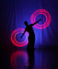 Poi is more fun in the dark.....with lights.....