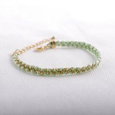 Braided Satin Thread with Ball Chain Bracelet. $14.00, via Etsy.