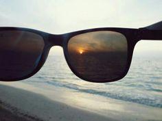Asi se ve atraves de las gafas el sol