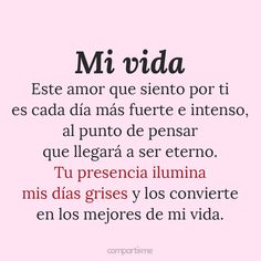 Imágenes de amor bonitas con frases románticas 10 Amor Quotes, Qoutes, I Miss You Like, My Love, Frases Love, Love Phrases, Joy Of Life, Love Images, Love Quotes For Him
