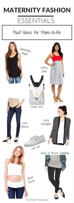 These pregnancy staples are items every Mom-to-Be needs to have in their wardrobe for comfortable and fashionable maternity style.     | maternity fashion | maternity clothes | maternity fashion on a budget | postpartum clothing | maternity must haves | maternity products | The Mom Friend