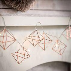 Copper Geometric Fairy Lights