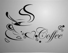Cheap wall sticker, Buy Quality removable wall stickers directly from China vinyl quotes Suppliers: home decor Coffee cup, vinyl quote removable wall Stickers, DIY home decor wall art MURAL Removable Wall Stickers, Diy Stickers, I Love Coffee, Black Coffee, Hot Coffee, Home Decor Wall Art, Diy Home Decor, Crackpot Café, Coffee Cup Art