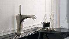 Margaux® Single-hole bathroom sink faucet with spout and lever handle Kohler Sink, Bathroom Sink Faucets, Bathroom Fixtures, Vanity Faucets, Bathroom Plumbing, Sinks, Bathroom Trends, Plumbing Fixtures, Kitchen And Bath