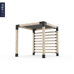 Pergola Kit with Post Wall for wood by Toja Grid is quick to assemble and the perfect addition to any outdoor space. From to Feet. Diy Pergola Kits, Outdoor Pergola, Backyard Patio, Backyard Landscaping, Backyard Shade, Outdoor Shade, Patio Shade, Diy Patio, Pergola Ideas