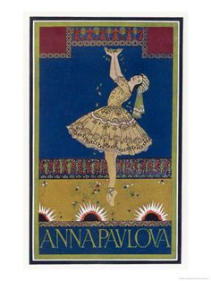 Anna Pavlova Russian Ballet Dancer on Stage in 1912