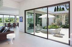 Résultat d'images pour maison moderne grandes baies vitrees