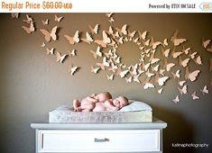 Spring SALE 3D Butterfly Wall Art Home Decor Circle Burst Set