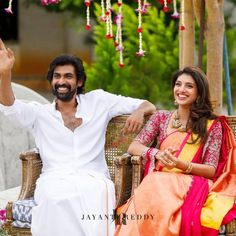 We Are Loving Rana Dagubatti's Fiancé Miheeka's Bridal Looks! Rana Daggubati, Anamika Khanna, The Wedding Date, Wedding Ceremony, Outdoor Ceremony, Farm Wedding, Wedding Couples, Boho Wedding, Pai
