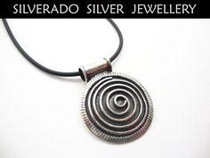 Greek Spiral Eternity Key  Sterling Silver by SilveradoJewellery, €66.00