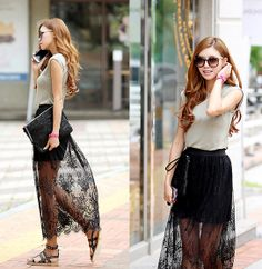 Itsmestyle Embroidery Lace Long See Sk $25.3